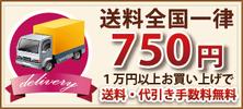 送料全国一律750円